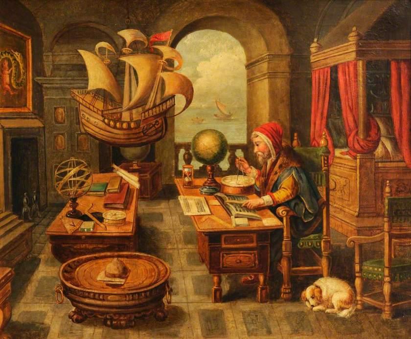 van der Straet, Jan, 1523-1605; A Natural Philosopher in His Study